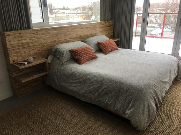 Handcrafted Zebra Wood King Sized Bed Nepean Ottawa
