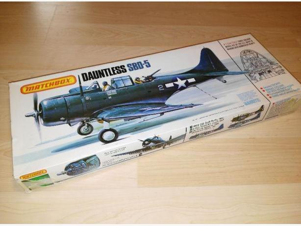 Vintage 1977 Model Plane - Matchbox Dauntless SBD-5