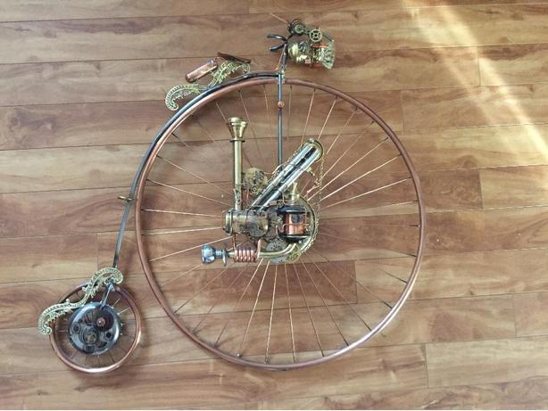 Steampunk Pennyfarthing Bicycle