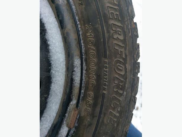 firestone studded winter tires 215 60r16 north regina regina. Black Bedroom Furniture Sets. Home Design Ideas