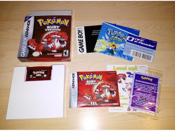 Nintendo Gameboy Advance (GBA) Pokemon Ruby 100% Complete