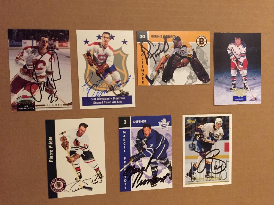 Nhl Hockey Hall Of Fame Autographed Cards Saanich Victoria