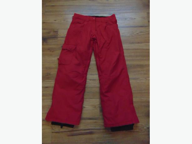 snow pants ladies size small powder room core cherry red