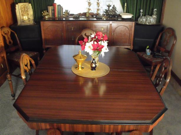 Canadian Made 1920's Dining Room Suite. . .solid wood