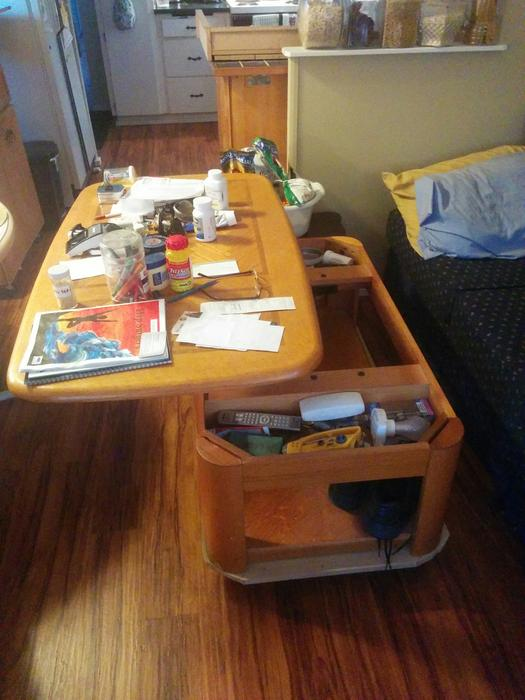 7 39 Three Cushion Couch And A Raise Able Coffee Table Central Saanich Victoria