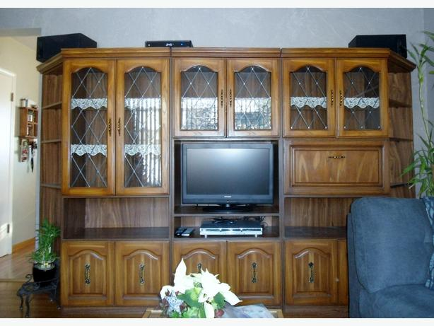 WALL UNIT ENTERTAINMENT UNIT CHINA CABINET North East