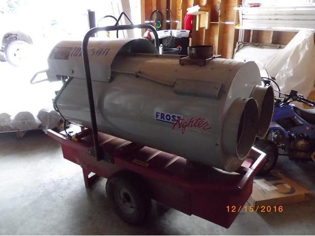 420,000 BTU Frost fighter Indirect diesel fired heater