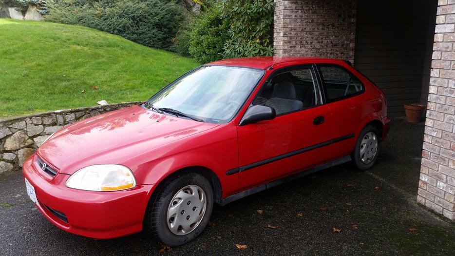 1998 honda civic hatchback two door automatic great car. Black Bedroom Furniture Sets. Home Design Ideas