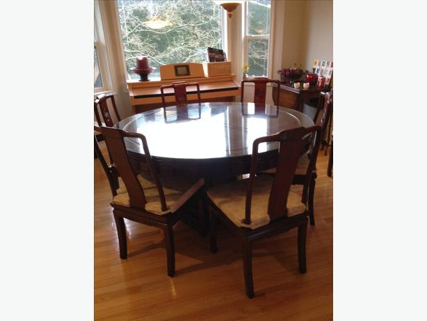 5 foot diameter dining room table with 8 chairs duncan
