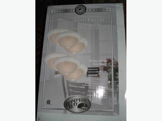 Six (6)- pack of Designer Light Fixtures, 60 watt ea.  White