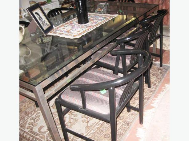contemporary large board or dining room table heavy plate