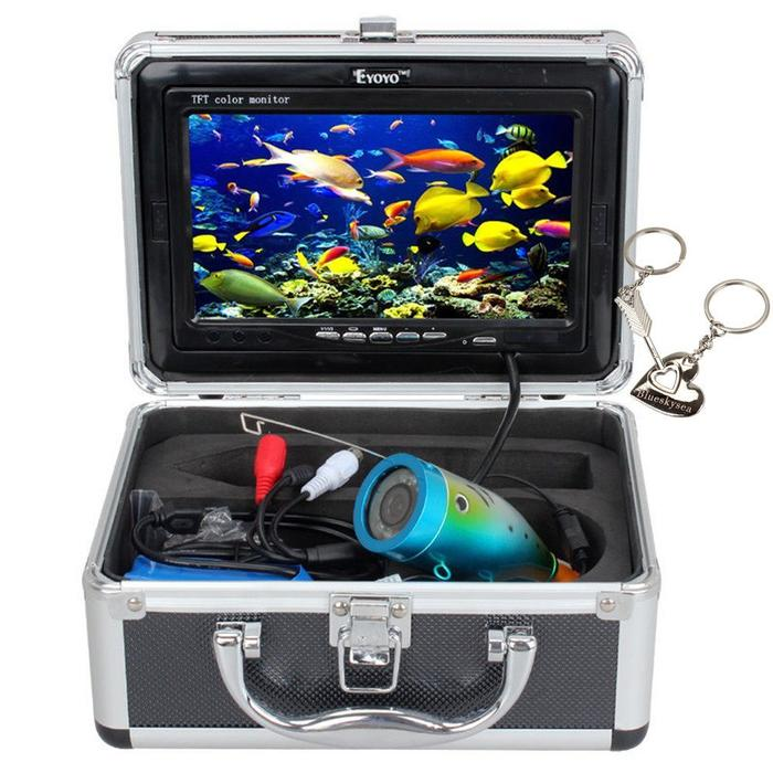 Underwater camera fish finder 7 hd screen dvr recording for Used fish finders
