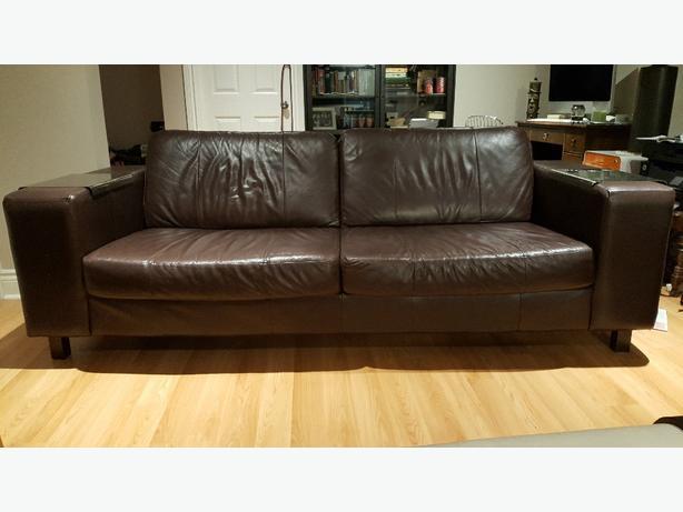 Eq3 Leather Sofa Style Hugo Central Ottawa Inside