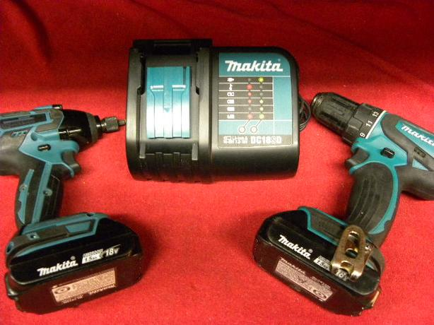 makita 18v cordless drill and impact driver combination. Black Bedroom Furniture Sets. Home Design Ideas