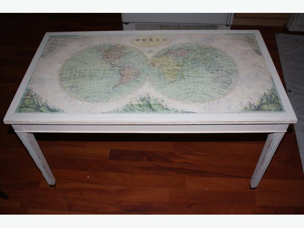 Vintage Map Coffee Table North Saanich Sidney Victoria