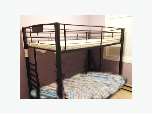 Bunk Bed Or Single Loft Bed With Futon Below Couch