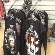 Biker clothing merchandise.