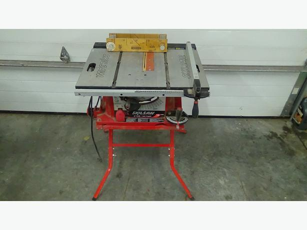 Table saw skill saw model 3400 with heavy duty folding for 10 inch skilsaw table saw