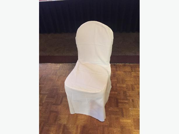 150 White Banquet Seat Covers Saanich Victoria