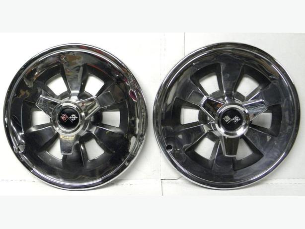 65 1965 Chevy Corvette Hubcaps Spinner Wheel Covers Pair C2s