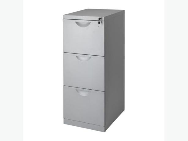 Ikea erik 3 drawer grey metal filing cabinet with keys victoria city victoria - Armoire casier metal ikea ...