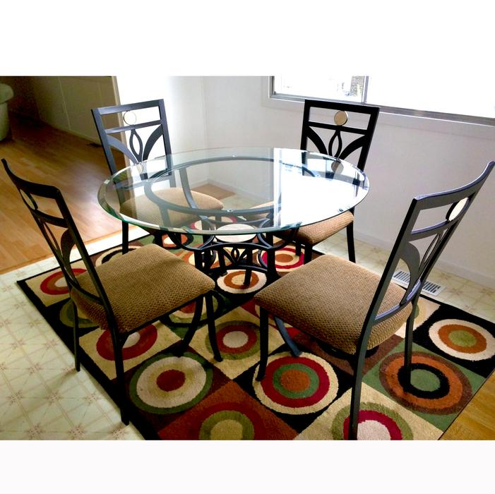 5 piece Glass top Table Dining set North Saanich amp Sidney  : 57233466934 from www.usedvictoria.com size 701 x 700 jpeg 70kB