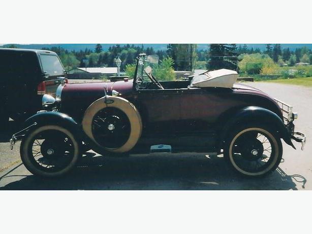 Model A Roadster, Satellite Sebring, Vintage Gas Station Memorabilia