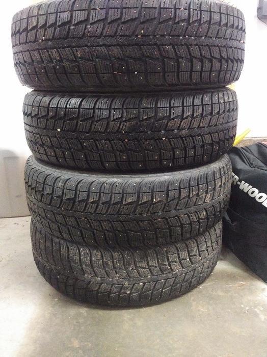studded winter tires for sale 17 215 65 17 summerside pei. Black Bedroom Furniture Sets. Home Design Ideas