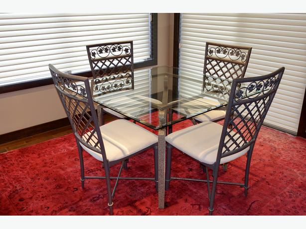 Glass Dining Table 4 Chairs North West Calgary