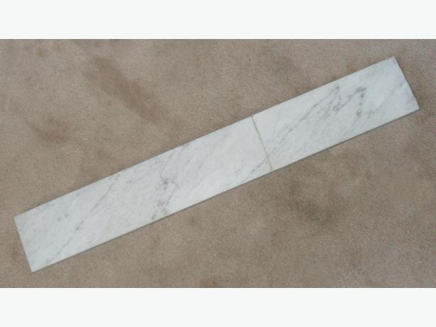 Two Heavy Pieces of Light Grey Marble with Darker Grey Streaks