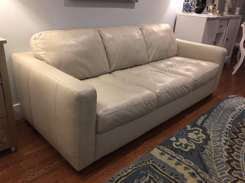 Off White Leather Sofa Couch Central Regina Regina Mobile