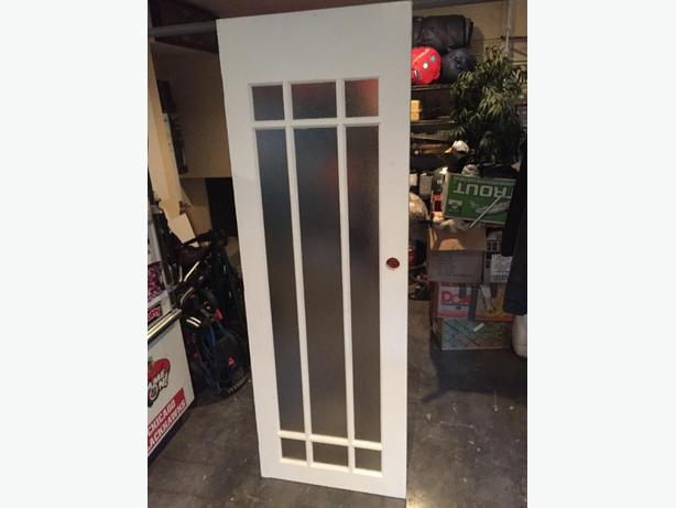 Glass single french door saanich victoria for Single glass french door
