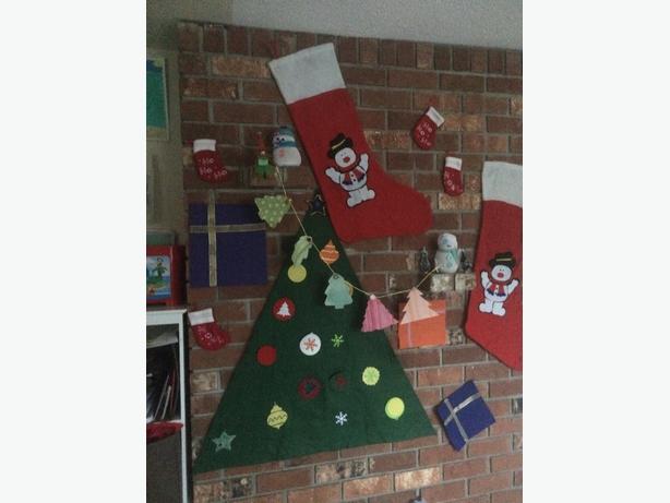 Felt christmas tree magnet decorations saanich victoria