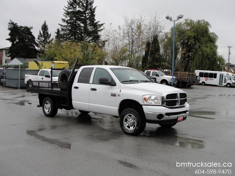 2009 Dodge Ram 3500 Crew Cab Flat Deck 4x4 Diesel