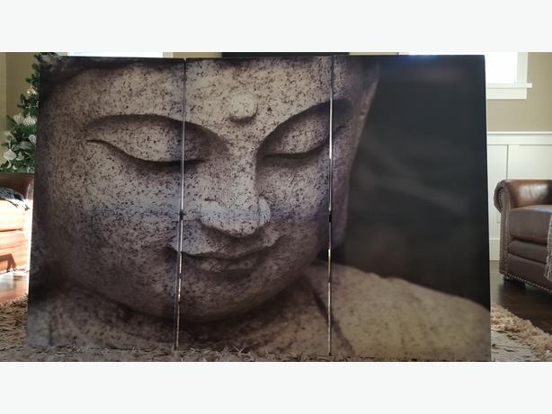 Chinese Buddha 3-Piece Canvas