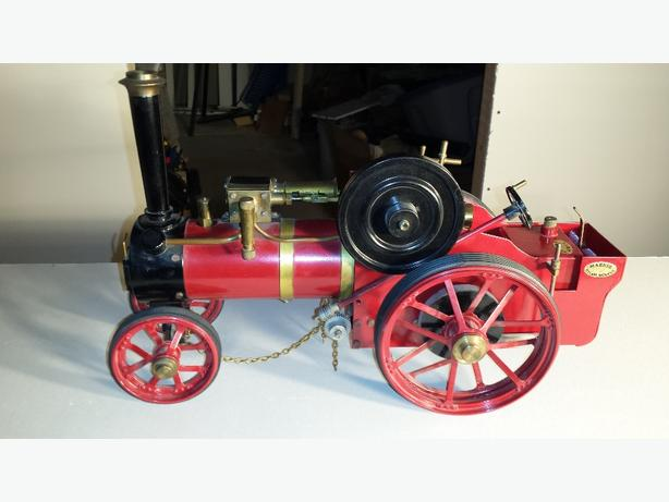 Live steam Road Traction model.