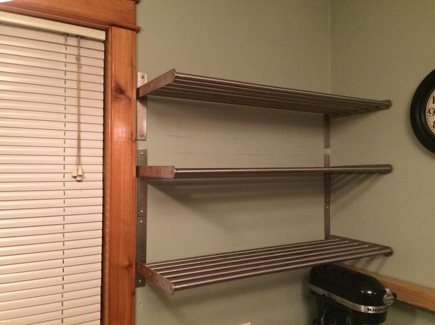 Set of 3 metal ikea shelves cedar parksville qualicum beach for Ikea metal wall shelf