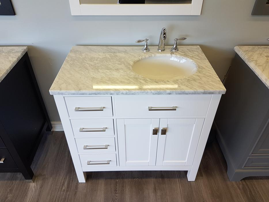 36 white bathroom vanity complete set gloucester gatineau Complete bathroom vanity