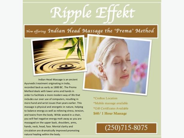 1 hour Indian Head Massage