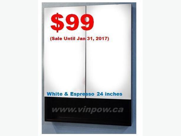 Medicine Cabinet from $99, Comes in White and Espresso*New*