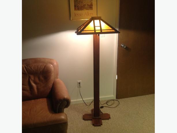 arts and crafts floor lamp victoria city victoria. Black Bedroom Furniture Sets. Home Design Ideas