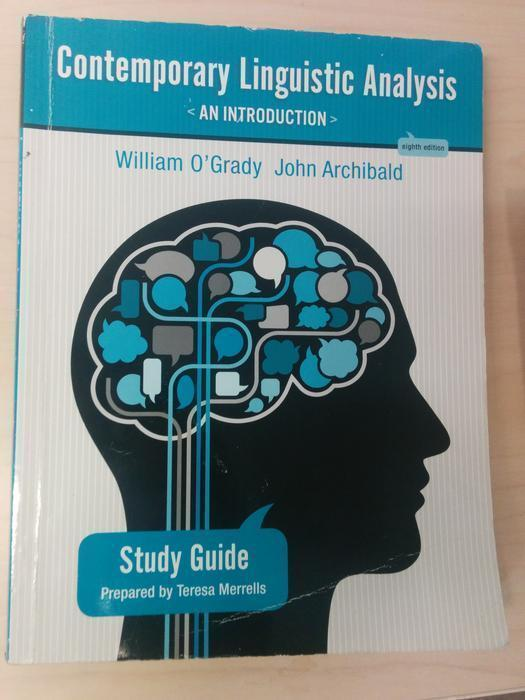 study guide for contemporary linguistic analysis eighth edition rh usedvictoria com Verbal Linguistic Linguistic Theory