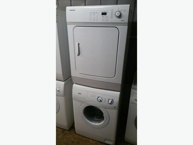 24 wide apartment sized stackable washer dryer set