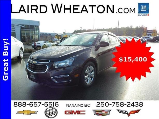 2015 Chevrolet Cruze LT w/ Back-Up Camera and 4G WiFi Hotspot