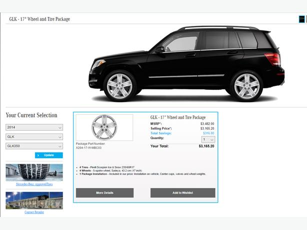 """17"""" Winter Tires and rims for Mercedes-Benz GLK"""