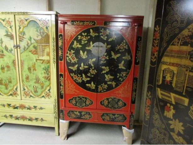 Hand painted asian style furniture