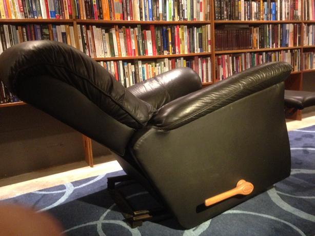 black leather recliner saanich