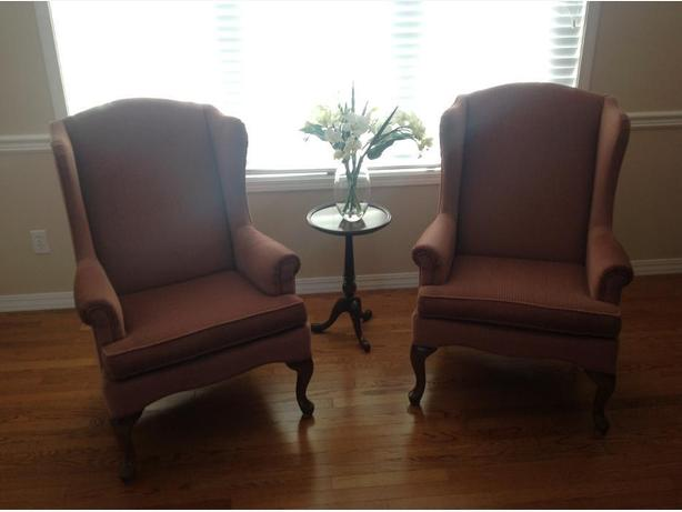 Vintage Wing Chair - Queen Anne (Style)