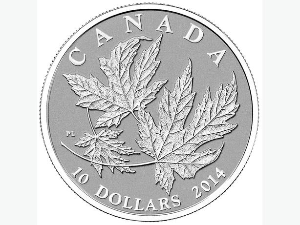 2014 Canada $10 Silver Maple Leaf -1/2 oz Pure Silver Coin