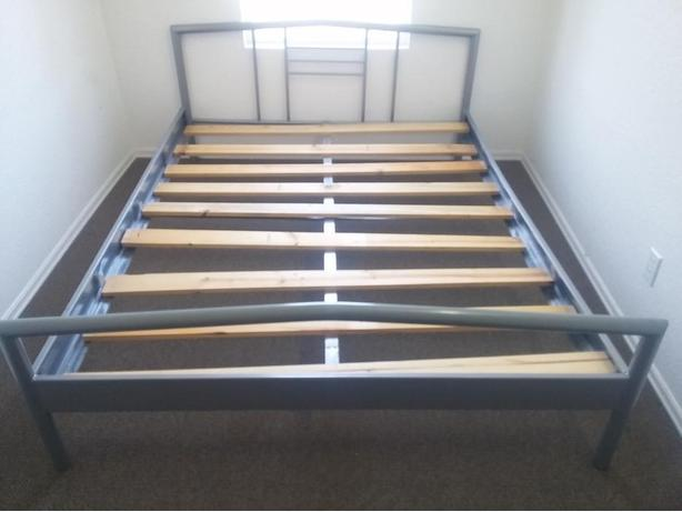 Double Size Bed Frame Head And Foot Board Middle Support And Wooden